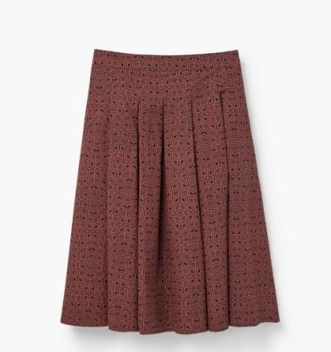 falda mango plisada